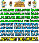 Animal Crossing New Horizons Bells, Nook Tickets, Fish Bait - Fast Delivery <br/> 2 Minute Delivery - Available now!