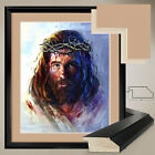 """32Wx40H"""": JESUS CHRIST DIED by STUDIO ANTO - DOUBLE MATTE, GLASS and FRAME"""