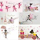 Lovely Flower Girl Butterfly Flower Fairy Wall Stickers For Room Decorations UK