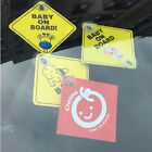 Baby On Board SAFETY Car Window Suction Cup Yellow REFLECTIVE WarningSign12CYJUS