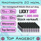 Kyпить Nikotin Shots 20mg 5 10 25 50 100x 10ml Shot Base für e Liquid 50/50 70/30 PG VG на еВаy.соm