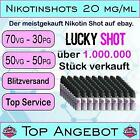 Nikotin Shots 20mg 5 10 25 50 100x 10ml Shot Base für e Liquid 50/50 70/30 PG VG günstig