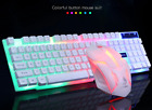 Mouse Keyboard Gaming Set Wired Led Usb Rainbow Pc Backlit And Backlight Laptop