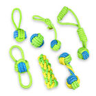 Dog Pet Chew Bite Toy Teeth Clean Ball Rope Interactive Training Playing Teether