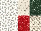 CHRISTMAS SCANDI PRINTS holly, robin, stars 100% cotton patchwork QUILT fabric