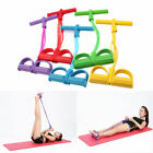 US Foot Pedal Pull Rope Resistance Exercise Yoga Equipment Sit-up Fitness 4-Tube image