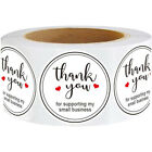 1000 Round Kraft Paper Thank You for Supporting My Small Business Stickers Label