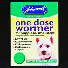 JOHNSONS SIZE 1 2-8kg PUPPY/DOG WORMER ROUNDWORM TAPEWORM WORMING TABLETS-RSPCA