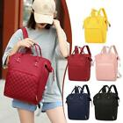 Pure Color Mommy Travel Backpacks Nylon Maternity Nappy Top-handle Bag Ajustable