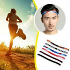 Unisex Sport Sweat Guide Sweatband Perspire Yoga Head Silicone Belt Band O4p8