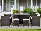 Garden Patio Furniture Set Outdoor Rattan Dining Set Lounge Small Party 9 Piece