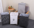 Laundry Fabric Hamper Clothes Storage Basket Bin Organizer Washing Bag 3 Types