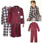 Family PJ Kids 2pc Brushed Jersey Pajama Set Plaid Siz 6/7 Ch Pattern Boys Girls