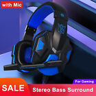Gaming Headset Mic Stereo Surround Headphone 3.5mm Wired For PS4 Xbox PC Xboxone