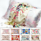 100 Mulberry Silk Pillowcase 25Momme Genuine Silk Floral PillowCover Retro