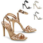 Womens Strappy Wrap Around Ankle Strap Sandals Stiletto High Heel Shoes 3-8