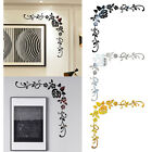 Flower Removable Wall Sticker 3d Mirror Art Acrylic Mural Background Home Decor