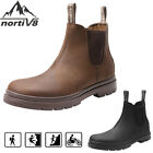 NORTIV 8 Men's  Chelsea Work Boots Lightweight LeatherWaterproof Slip on Boots