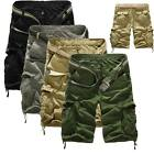 Mens Tactical Military Combat Cargo Shorts Pants Casual Camo Army Half Trousers