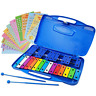 More images of Xylophone 25 Note Chromatic Glockenspiel in a Blue Plastic Case - Card Sets with