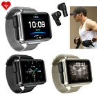 2 in 1 Smart Watch Heart Rate Music Control Bluetooth Headset for iPhone Android bluetooth control Featured for headset heart iphone music rate smart watch