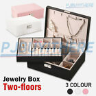 Au Jewelry Box Organizer Case Holder Storage Earring Ring Display Box Leather