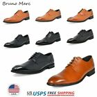 Внешний вид - Bruno Marc Mens Oxford Shoes Genuine Leather Lace up Casual Shoes Dress Shoes