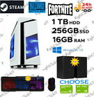 Fast Gaming Pc Computer Bundle Intel Quad Core I5 16gb 1tb+256gb 4gb Gt1050