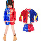 Kids/Girls Costume Suicide Squad Harley Quinn COS Cosplay Fancy Dress new