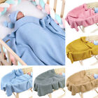 Baby Blanket Soft Knitted Crochet Boy Girl Gift Newborn Stroller Swaddle Blanket