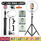 14''LED RGB Ring Light Live Makeup Video Photo With Floor Tripod youtube LIVE