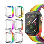 Gradient Case For Apple Watch Series 6 5 4 Colorful Full Screen Protector Cover