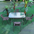 Bistro Furniture Glass Table+chair Set Patio/garden/outdoor/conservatory/balcony