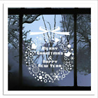 Merry Christmas Gift Wreath Wall Window Stickers Decals Xmas Home Shop Decor W