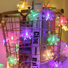 Christmas LED Curtain Window Snowflake String Fairy Lights Waterproof Decor UK Y