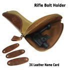 Canvas Rifle Bolts Pouch Leather Gun Bolt Bag Holder Holster Case Cover New