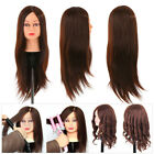 24' 100% Real Human Hair Hairdressing Mannequin Head Training Doll w/Table Clamp