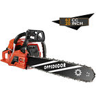 OppsDecor 62C /58CC Gas Chainsaw 2 Stroke Handed Petrol  Woodcutting 4HP 20