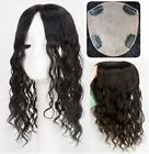 """5.5""""x6"""" SILK TOP 100 high quality WAVY Chinese human hair topper hairpiece,HOT"""
