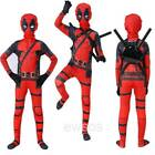 Kyпить Kids Children Superhero Costume Deadpool Full Body Halloween Fancy Cosplay Set на еВаy.соm