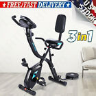 ANCHEER Folding Stationary Upright Magnetic Exercise Bike 3-in-1 APP Control