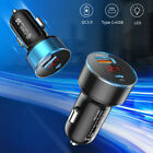 Car Charger Fast USB C PD 2 Port Fits For iPhone Samsung LG HTC Socket Adapter