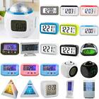 LED Digital Snooze Alarm Clock Control Battery Operate Portable Home Desk Table