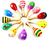 More images of MUROAD 10 Pieces Wooden Maracas Percussion Rattle Shaker Sand Hammer Musical for