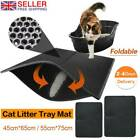 CAT LITTER CATCHER TRAY MAT leather TWO LAYERS KITTEN SCATTER CONTROL PAW CLEAN(