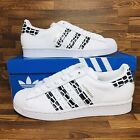 Adidas Originals Superstar Women's White Leather Sneakers Athletic Shoes