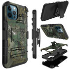 For iPhone 12/12 Pro Max/Mini/11 Hybrid Kickstand Belt Clip Holster Case Cover