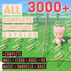 New Horizons Complete Furniture 3000+ items & Clothing 4700+ Items Catalog