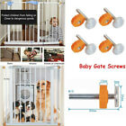 1Pcs Baby Pet Safety Stairs Gate Screws/Bolts with Locking Nut Spare Part kit