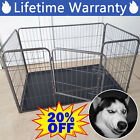 Metal Dog Puppy Cage Pet Playpen Whelping Box Run Pen Fence Stronger Heavy Duty